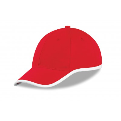 Us Basic New Jersey 6 Panel Cap Red