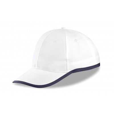 Us Basic New Jersey 6 Panel Cap White