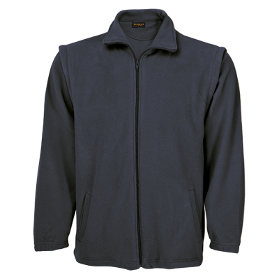 Mens Ultra Micro Fleece With Zip Off Sleeves Grey Size 2XL