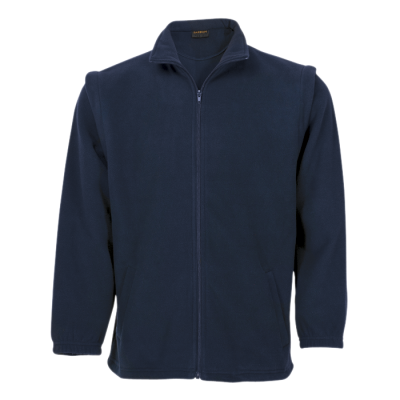 Mens Ultra Micro Fleece With Zip Off Sleeves Navy Size Large
