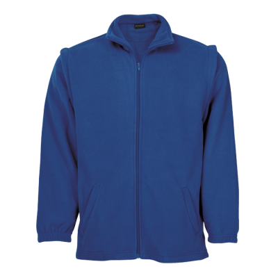 Mens Ultra Micro Fleece With Zip Off Sleeves Royal Size 5XL