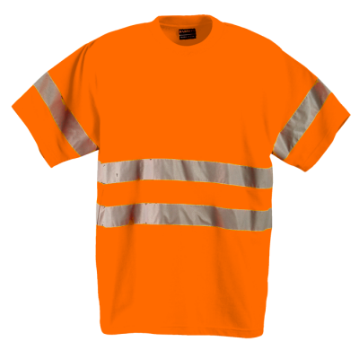 150G Poly Cotton Safety T-Shirt With Tape Safety Orange Size Small