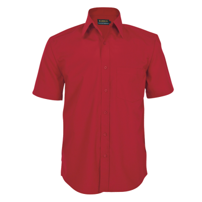 Mens Basic Poly Cotton Lounge Short Sleeve Red Size 4XL