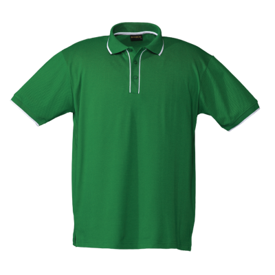 Mens Piping Golfer Green/White Size 2XL
