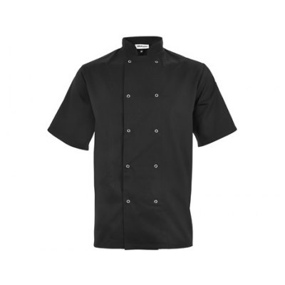 Zest Short Sleeve Chef Jacket Black Size Small