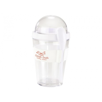 Yo-on-the-go Breakfast Cup Solid White