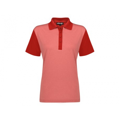 Ladies Crossfire Golf Shirt Red Size 2XL