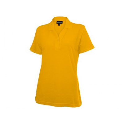 Basic Pique Ladies Golfer Yellow Size Small