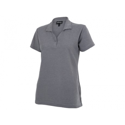 Basic Pique Ladies Golfer Grey Size Small