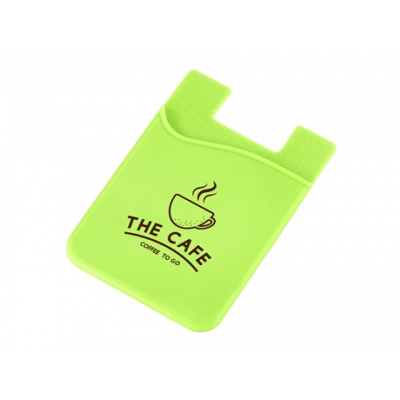 Silicone Phone Card Holder Lime