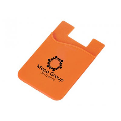 Silicone Phone Card Holder Orange