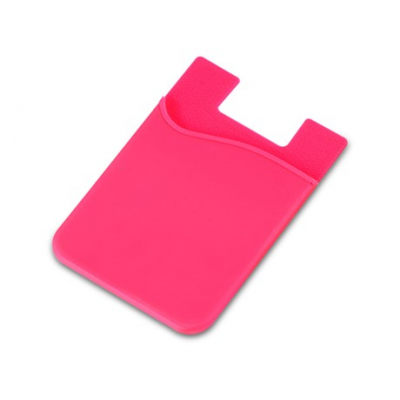 Silicone Phone Card Holder Pink