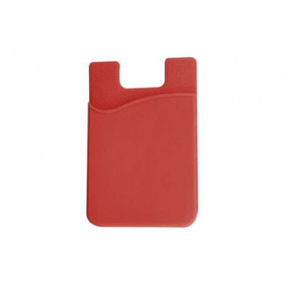 Silicone Phone Card Holder Red