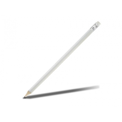 Basix Wooden Pencil Solid White