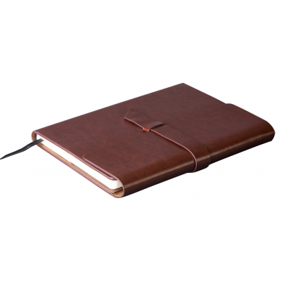 Peninsula Midi Notebook Brown
