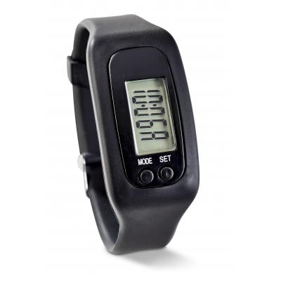 Strider Pedometer Watch Black