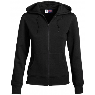 Us Basic Ladies Bravo Hooded Sweater Black Size 2XL