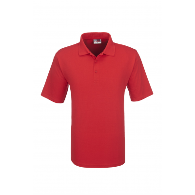 Us Basic Cardinal Mens Single Jersey Golf Shirt Red Size 2XL