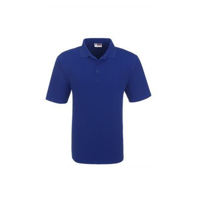Us Basic Cardinal Mens Single Jersey Golf Shirt Royal Blue Size 2XL