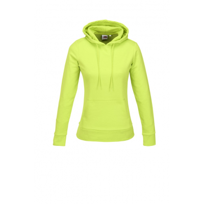Us Basic Ladies Omega Hooded Sweater Lime Size 2XL