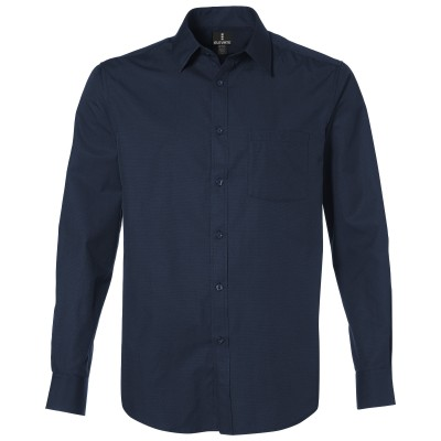 Elevate Sycamore Mens Long Sleeve Shirt Navy Size 4XL