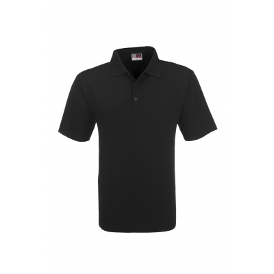 Us Basic Cardinal Mens Single Jersey Golf Shirt Black Size Medium