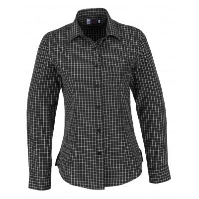 Us Basic Aston Ladies Long Sleeve Shirt Black Size Medium