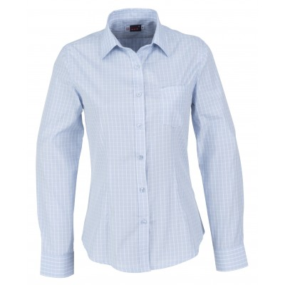 Us Basic Aston Ladies Long Sleeve Shirt Light Blue Size XL