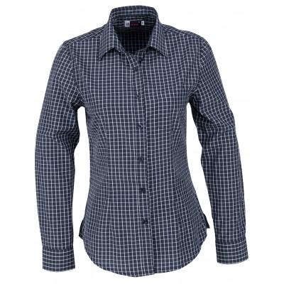 Us Basic Aston Ladies Long Sleeve Shirt Navy Size XL