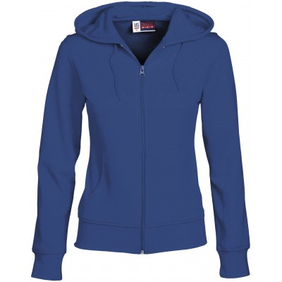 Us Basic Ladies Bravo Hooded Sweater Blue Size Medium