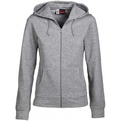 Us Basic Ladies Bravo Hooded Sweater Grey Size Medium