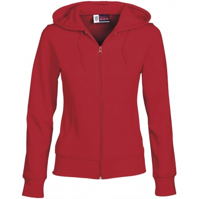 Us Basic Ladies Bravo Hooded Sweater Red Size XL