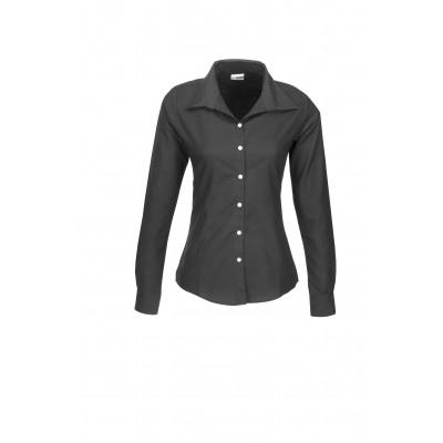 Us Basic Aspen Ladies Long Sleeve Shirt Black Size Small