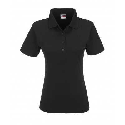 Us Basic Cardinal Ladies Single Golf Shirt Black Size Medium