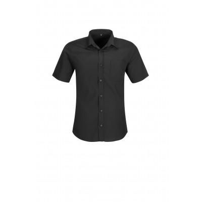 Us Basic Mens Short Sleeve Kensington Shirt Black Size 3XL
