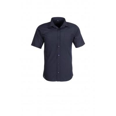 US Basic Mens Short Sleeve Kensington Shirt Navy Size 5XL