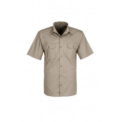 Us Basic Mens Short Sleeve Wildstone Shirt Khaki Size 3XL