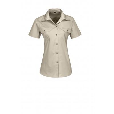 Us Basic Ladies Short Sleeve Wildstone Shirt Stone Size Large