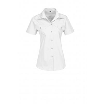 Us Basic Ladies Short Sleeve Wildstone Shirt White Size XL