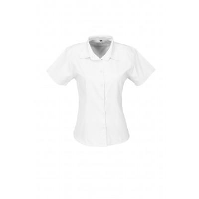 Us Basic Ladies Short Sleeve Milano Shirt White Size Medium