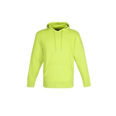 Us Basic Mens Omega Hooded Sweater Lime Size Medium