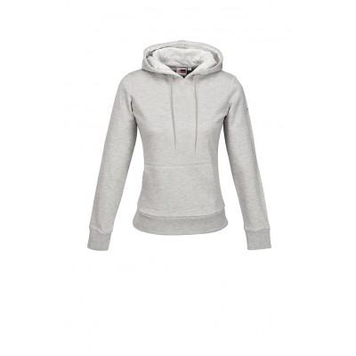 Us Basic Ladies Omega Hooded Sweater Grey Size 2XL