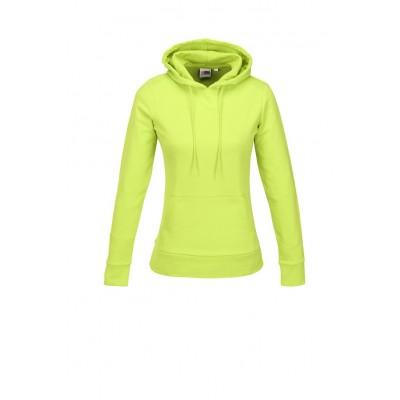 Us Basic Ladies Omega Hooded Sweater Lime Size Medium