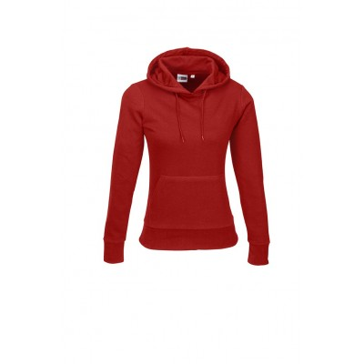 Us Basic Ladies Omega Hooded Sweater Red Size 2XL