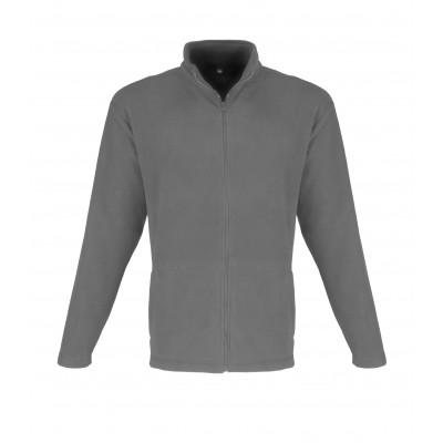 Us Basic Mens Yukon Micro Fleece Jacket Grey Size 2XL