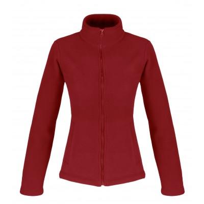 Us Basic Ladies Yukon Micro Fleece Jacket Red Size XL