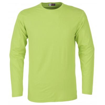 Us Basic Portland Mens Long Sleeve T-Shirt Lime Size 3XL