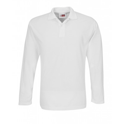 Us Basic Mens Long Sleeve Elemental Golf Shirt White Size 4XL