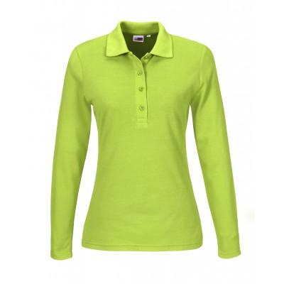 Us Basic Ladies Long Sleeve Elemental Golf Shirt Lime Size Large