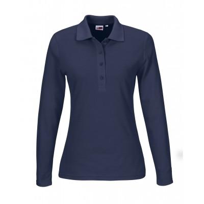Us Basic Ladies Long Sleeve Elemental Golf Shirt Navy Size 2XL